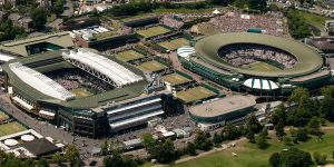 Wimbledon's Centre Court and Number One court - where all the major matches take place. Click through to see our 2019 Hospitality packages.