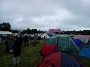Glastonbury hospitality campsite ideal location