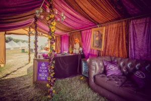 Glastonbury Hospitality campsite reception