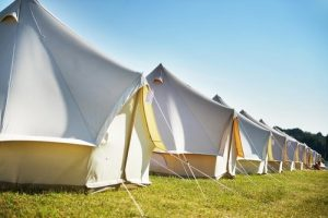 Glastonbury hospitality campsite bell tent