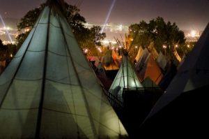 Glastonbury hospitality campsite tipi