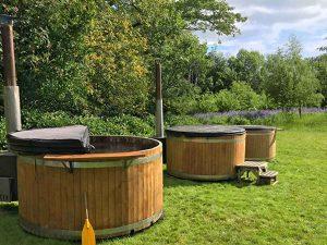 Glastonbury festival hot tubs